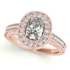 halo engagements rings images 10k rose gold oval halo engagement ring 84512 8x6 10kr jpg