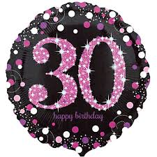 30th birthday balloons delivered celebration pink 30th birthday balloon delivered inflated in uk