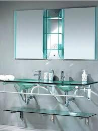 bathrooms design bathroom glass shelves ideas modern double sink