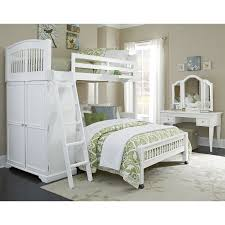 Bed Full Ne Kids Walnut Street Locker Loft Bed White Hayneedle