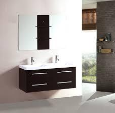 Curved Corner Vanity Unit Bathrooms Design Bathroom Cabinets Floating Red Birch Custom