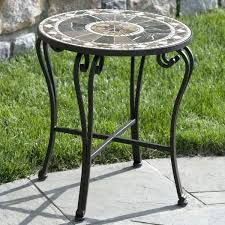 side table cast aluminum side table garden and patio furniture