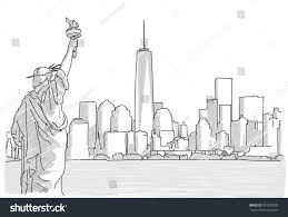 free hand sketch new york city stock vector 397828909 shutterstock