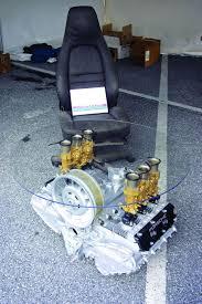911 engine coffee table porsche