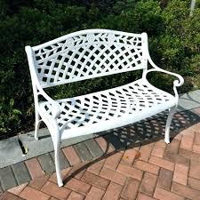 White Metal Patio Chairs White Cast Iron Patio Furniture Cast Iron Garden Furniture White
