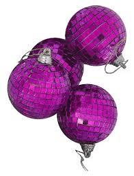 4ct purple mirrored glass disco ornaments 4 100mm