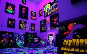 blacklight bedroom art work black light old artwork pinterest lights room