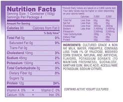 dannon light and fit nutrition nutrition facts for dannon light and fit greek vanilla yogurt www