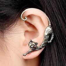 cat earrings 1 pc korean cat earrings for girl women gift ear cuff