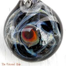 Glass Pendant Hand Crafted Hand Blown Glass Pendant Starry Night Sra Milky Way