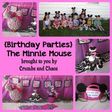 birthday parties the minnie mouse crumbs and chaos