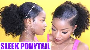 hair pony tail for african hair how to sleek low ponytail on natural hair youtube