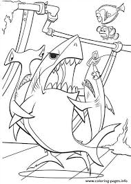 sharks finding nemo coloring pages printable