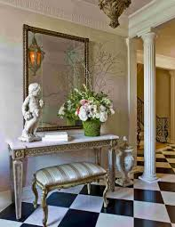 Decorating With Wallpaper by Decorations Outstanding Foyer Decorating With Floral Wall Art