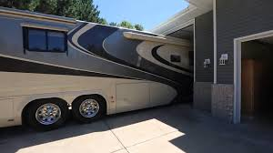 garage for rv executive rambler with class a rv garage youtube