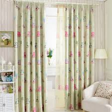 Toddler Blackout Curtains Top Finel Bird Pattern Finished Blackout Curtains For