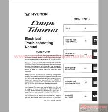 2001 hyundai tiburon manual hyundai coupe tiburon 2001 electrical troubleshooting manual