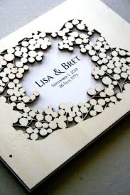 wedding guest book photo album custom wedding guest book album branches with birds modern