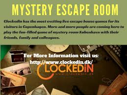 clockedin has the most exciting mystery escape room games and