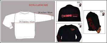 canon eos digital sweatshirt extra large photo pro gear