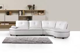 white leather sectional sofa with chaise decoration white leather sectional sofa with chaise with image 1
