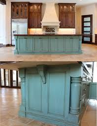Rustic Painted Kitchen Cabinets by Best 20 Painted Island Ideas On Pinterest Blue Kitchen Island