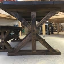trestle table urban industrial design