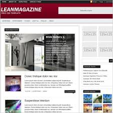 lean magazine template free website templates in css html js