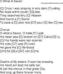 Charge Nurse Resume Old Time Song Lyrics With Guitar Chords For O What A Savior C