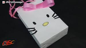 diy hello kitty paper bag how to make jk arts 736 youtube
