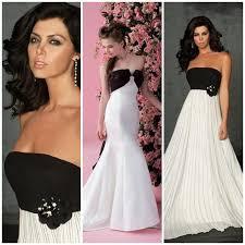 Black And White Wedding Dress Everlasting Black And White Wedding Dresses The Best 2012