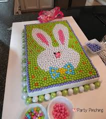 easter bunny candy sixlet cake fun and easy to make so cute adorable