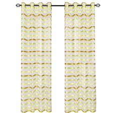 Yellow Grommet Curtain Panels by Lavish Home Cream Sofia Grommet Curtain Panel 84 In Length 63