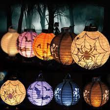 Halloween Decoration Props Uk by 1 Pcs Halloween Decoration Led Paper Pumpkin Bat Spider Light