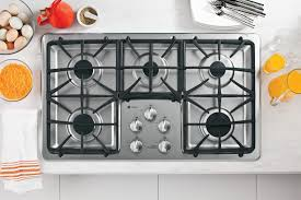 Sealed Burner Gas Cooktop Ge Pgp966setss 36 Inch Gas Cooktop With 5 Sealed Burners