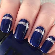 50 blue nail art designs silver glitter nails blue nails and
