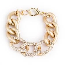 link bracelet images Gold pave chain link bracelet derng jpg