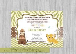 simba baby shower invitations simba lion king baby shower