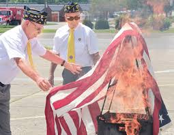 How To Dispose An American Flag American Flags Retired At American Legion Post 15 News Sports
