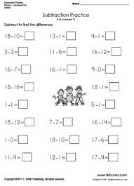 horizontal subtraction packet 1
