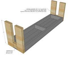 ana white modern farm bench new updated pocket hole plan diy