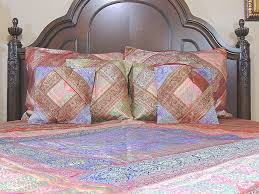Brocade Duvet Cover Luxury India Inspired Bedspread 7p Set Zari Brocade Duvet Ethnic
