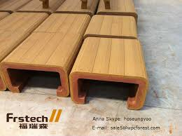 Wood Bench Designs Decks by Waterproof Wpc Outdoor Bench Simple Wooden Bench Design Wood