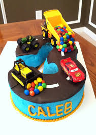 childrens monster truck videos cakes truck tractor car road number 3 cake creations by bethany me