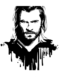 Thor Portrait Coloring Page H M Coloring Pages Thor Coloring Page