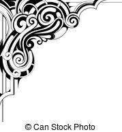 vector illustration of decorative corner ornament for decorative