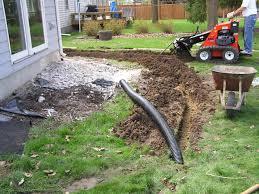 download yard drainage installation garden design