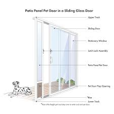 Patio Door Cat Flap by Petsafe Freedom Patio Panel For 96