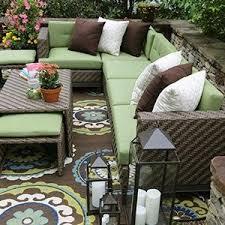 Sunbrella Outdoor Patio Furniture Ae Outdoor Hton 8 Sectional With Sunbrella