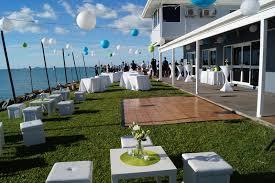 outdoor cocktail wedding setup4 marine club whitsundays